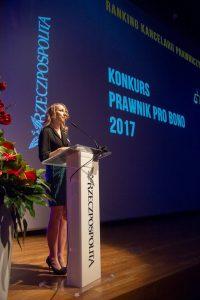 Prawnik Pro Bono 2017 mec. Sylwia Gregorczyk-Abram/fot. Rzeczpospolita